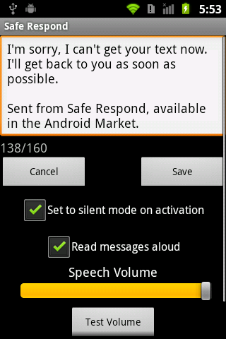 Safe Respond - screenshot