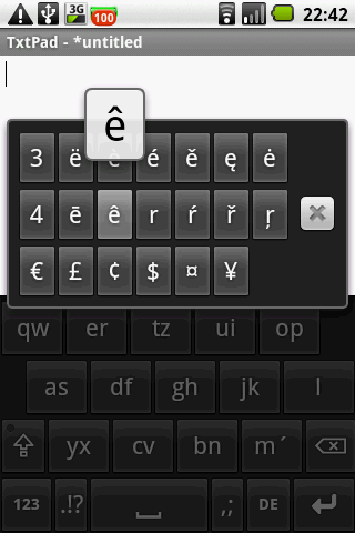 All Accents keyboard on demand - screenshot