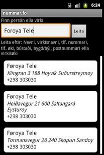 nummar.fo - screenshot thumbnail