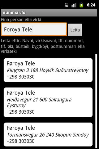 nummar.fo - screenshot