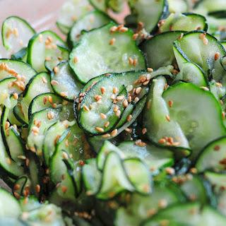Wasabi Cucumber Sesame Salad