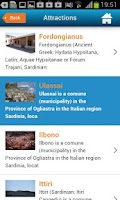 Screenshot of Sardinia Hotels Map & Guide