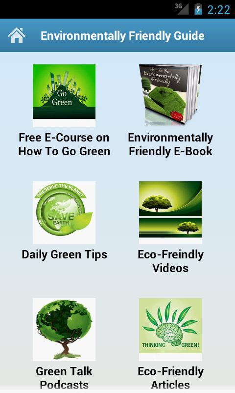 Environmentally Friendly Guide - screenshot