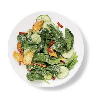 Spinach Salad with Bacon and Croutons