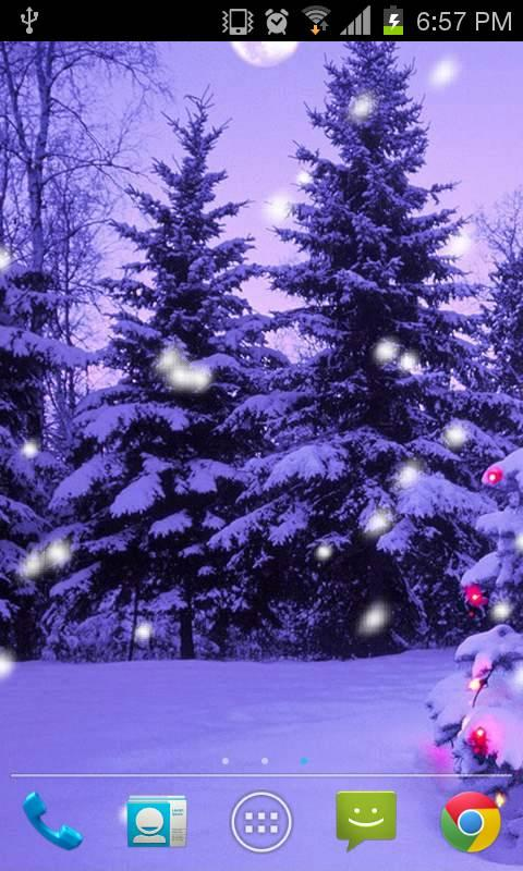 Christmas Snow Live Wallpaper - screenshot