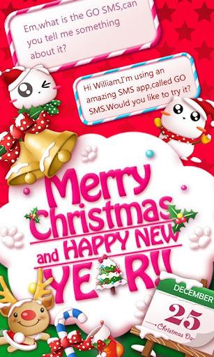 GO SMS CHRISTMAS CAT THEME