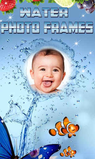 Water photo frames