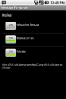 Screenshot of Message Forwarder