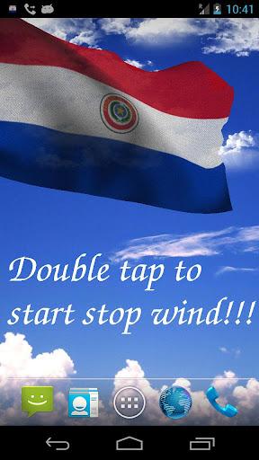 3D Paraguay Flag LWP