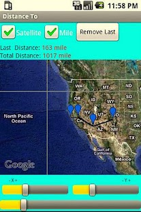 Calculate distance on map - screenshot thumbnail