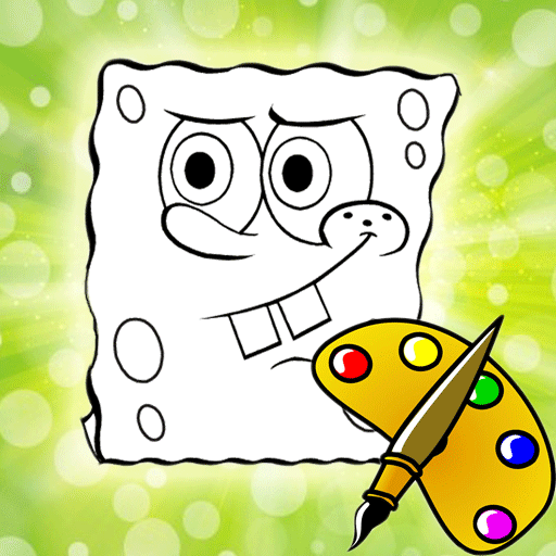 Coloring Book Kids Sponge