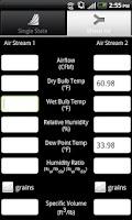 Screenshot of Air Pro Psychrometric Calcs