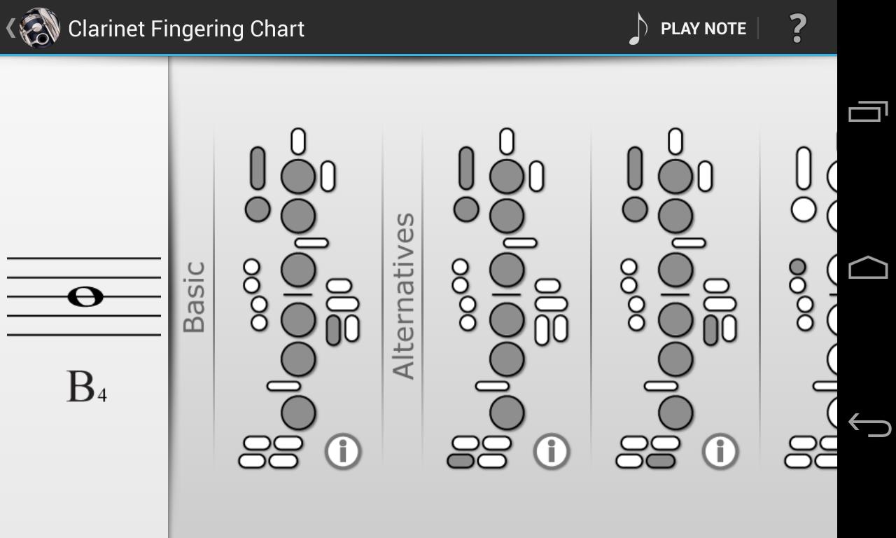 Clarinet Fingering Chart -