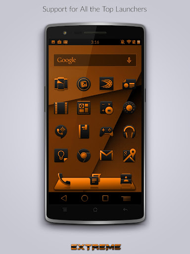 【免費個人化App】JB Extreme Launch Theme Orange-APP點子