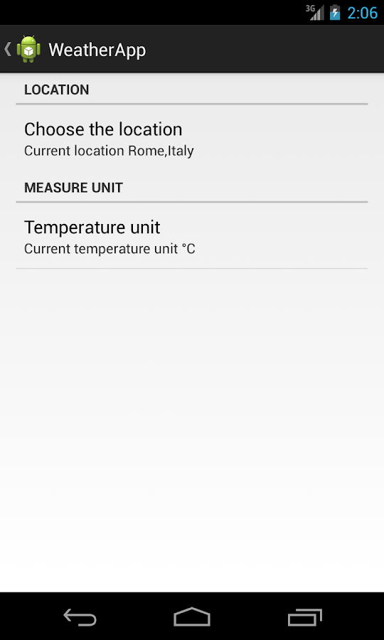 WeatherApp2- screenshot