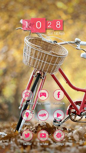 秋季主題騎自行車