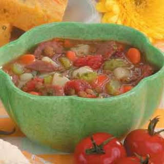 Sausage Lentil Stew Recipe.
