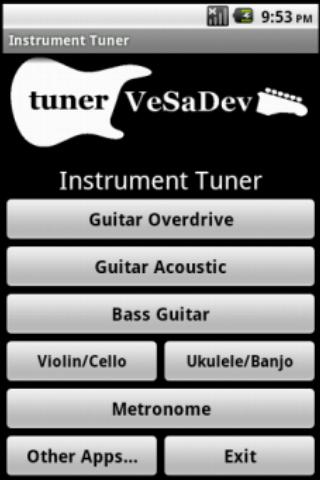 Tuner and metronome - screenshot