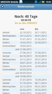Ferienkalender Countdown - screenshot thumbnail
