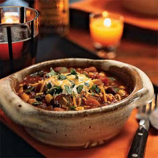Three-Bean Chili with Vegetables.