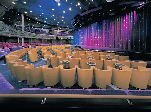 Norwegian-Sun-Stardust - There's not a bad seat in the house at the Stardust Lounge, a venue for Broadway-style entertainment on deck 6 of Norwegian Sun.