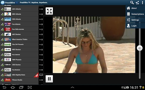 FrostWire Live TV Watch/Record - screenshot thumbnail