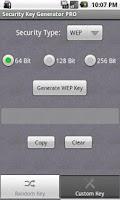Screenshot of Security Key Generator PRO
