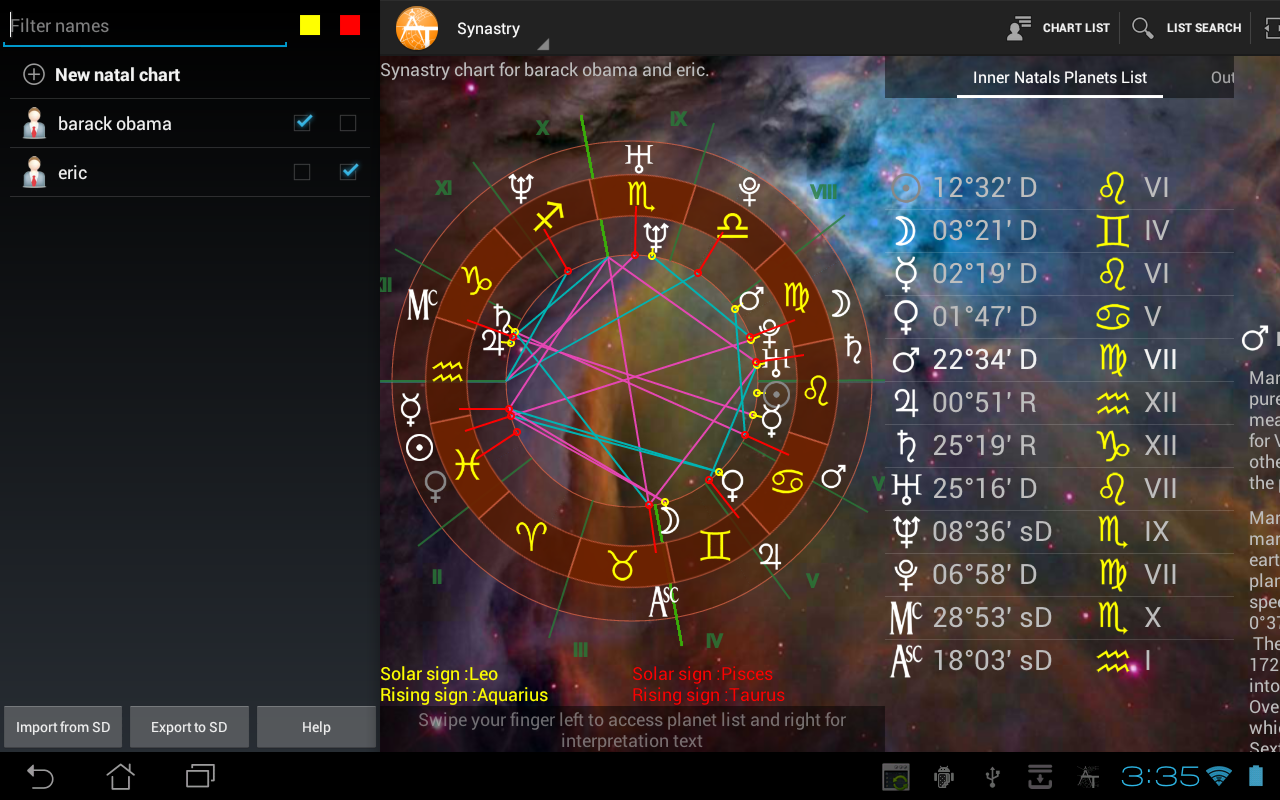 AstroTab Pro - screenshot