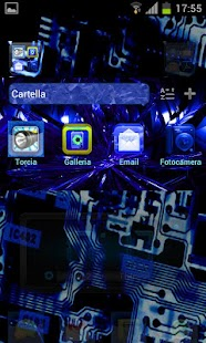 Electric Blue Theme GO/NOVA - screenshot thumbnail