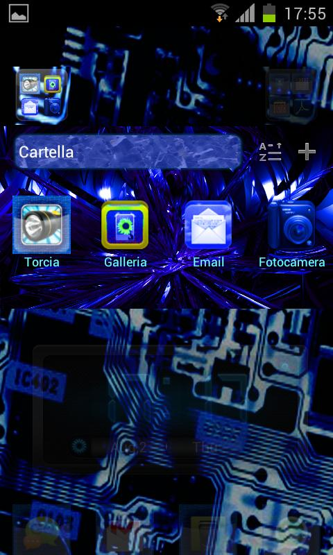 Electric Blue Theme GO/NOVA - screenshot