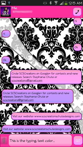 GO SMS - Damask 3