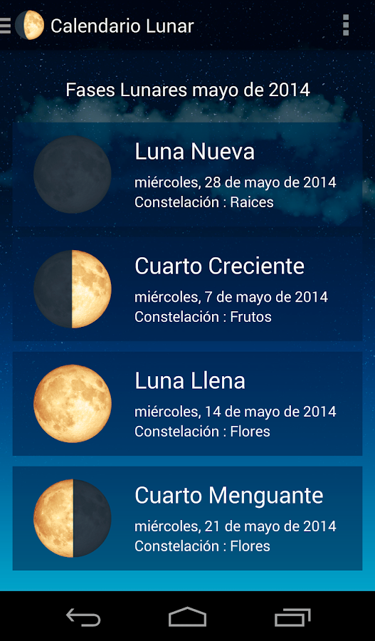 Calendario lunar aplicaciones de android en google play for Almanaque de la luna
