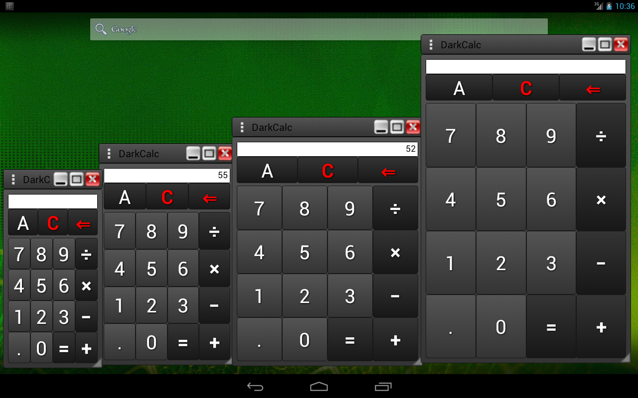 DarkCalc-(popup & normal calc) - screenshot