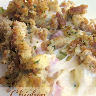 Chicken Cordon Bleu Casserole.