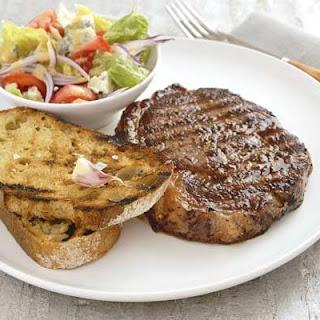 Steak Sandwich On A Plate.