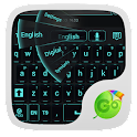 GO Keyboard Black Cyan Theme icon