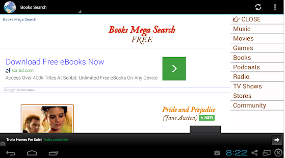 Music Movies Books Search- screenshot thumbnail