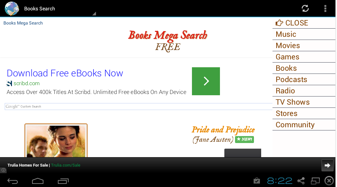 Music Movies Books Search- screenshot