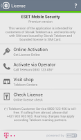 Screenshot of Mobile Security Telekom Edícia