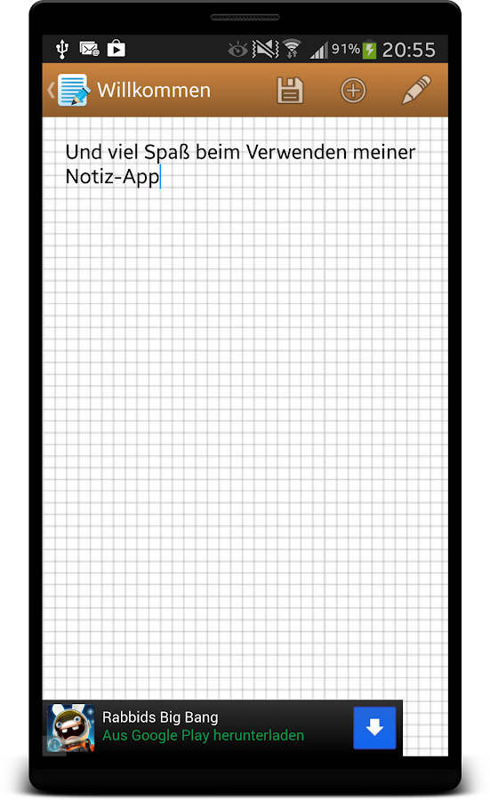 Instant Note (früher: JNote)- screenshot