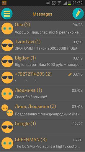 Go SMS Flat UI Theme HD