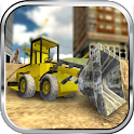 Construction Bulldozer Parking icon