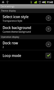 Transparence Dock GO Launcher - screenshot thumbnail