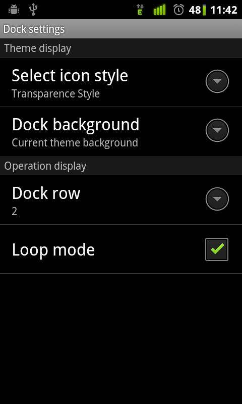 Transparence Dock GO Launcher - screenshot