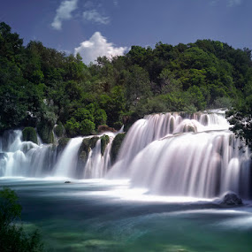 Krka Falls by Michael Otter - Landscapes Waterscapes ( water falls, croatia, krka )