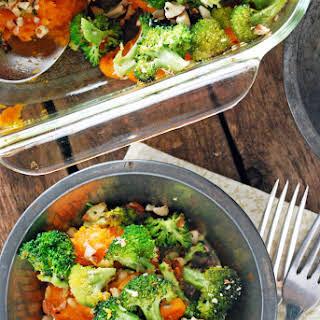Broccoli Cheddar Sweet Potato Casserole.