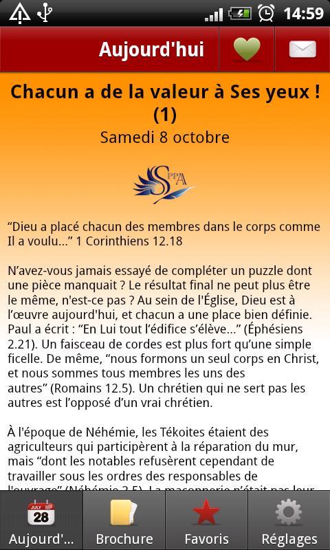 Sa Parole Pour Aujourd'hui- screenshot