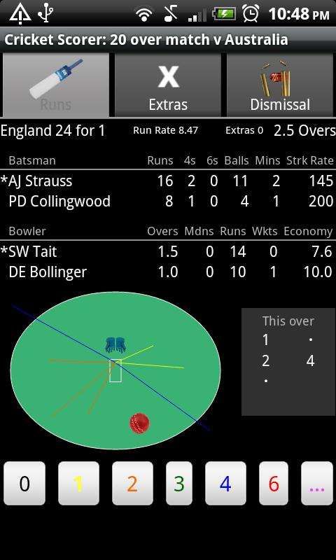 Cricket Scorer for Android- screenshot