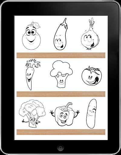蔬菜著色遊戲