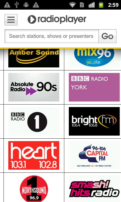 Radioplayer Mobile :: UK Radio - screenshot